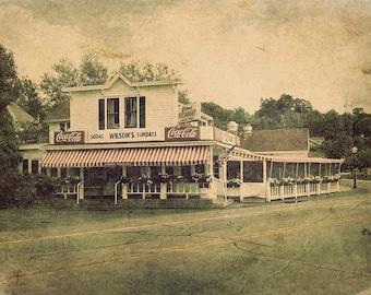 Wilson's Restaurant and Ice Cream Parlor, Door County, Ephraim, Home Decor, Diner, Soda Fountain, Large Wall Art Print, Americana Decor