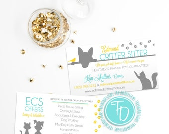 Pet business card etsy pet sitting business card animal business card pet sitter business card modern pet sitting business card paw prints business card colourmoves