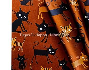 Cat pattern fabric, tabby cat fabric, fabric cat, fabric Japanese cat, cat fabric, fabric, fabric animals fabric 50x50cm TU173