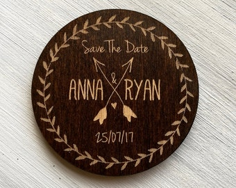 Save the Date Magnet Sample, Wedding Save the Date Sample, Wedding Announcement, Engraved Save the Date, Wood Magnets, Wedding Invintation
