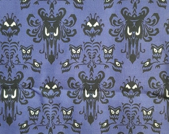 Haunted Mansion Wallpaper Inspired Fabric