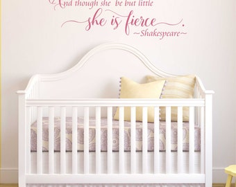 Though She Be But Little ~ Shakespeare Nursery Vinyl Wall Decal