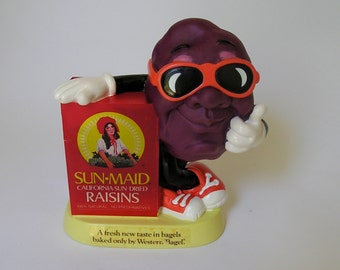 Vintage 1987 California Raisins Bank- Western Bagel/Sun Maid Advertising- Will Vinton