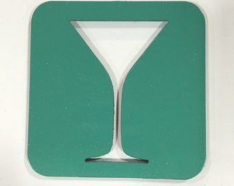 Martini Glass Coaster