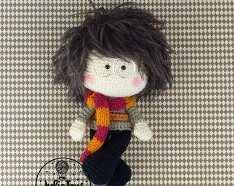 Crochet boy inspired by Harry Potter