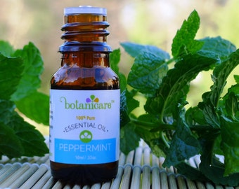 Peppermint Essential Oil Therapeutic Grade 100% pure 10ml/.33oz and 30ml/1oz by Botanicare