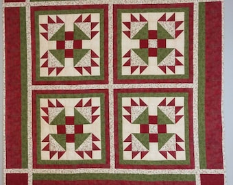 Bear Paw Quilted Wall Hanging
