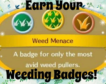 Animal Crossing Weeding Town **Earn your Weeding Badges for ACNL!** Includes the Weeding Day Furniture Set!/Time limit is 1 hour!
