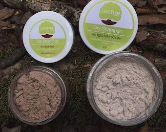 Dry Shampoo for Light or Dark Colored Hair- Organic. All Natural. Homemade. Vegan.