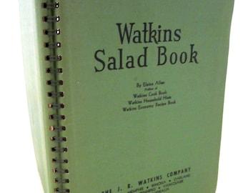 WATKINS SALAD BOOK 1946 Second Edition Elaine Allen 1940s Cookbook Cook Book Recipes