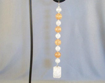 Black Metal Hanging Display // Ornaments // Window Hangings // Art Objects // Attaches Horizontally // Flower Pots // Real or Silk