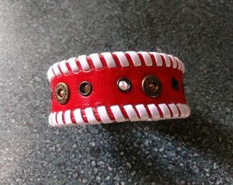 Red & White Laced Cuff,  Birthday, Anniversary, For her,