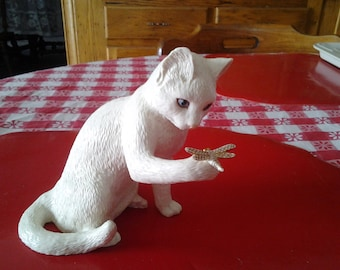 "lenox gold curious encounters 7"" cat figurine sooo cute"