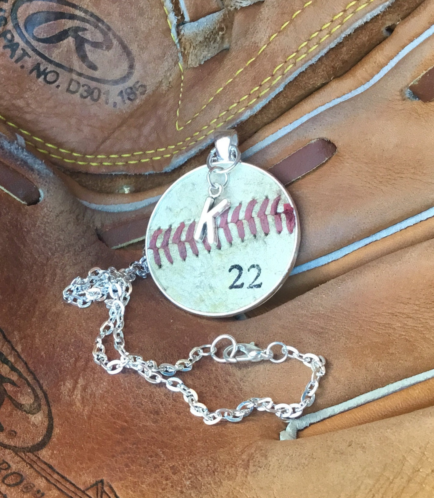 pendant custom baseball charm keychain ring chain fullxfull gift dad key team p il