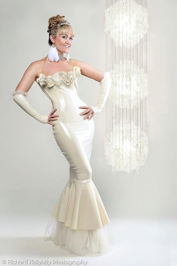 Belle Latex Wedding Gown Dress