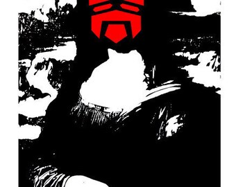 Satan TAKUMA YOSHIDA Japanese Pop Art Mona Lisa Blek le Rat