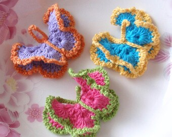 3 Crochet Butterflies YH - 064-03
