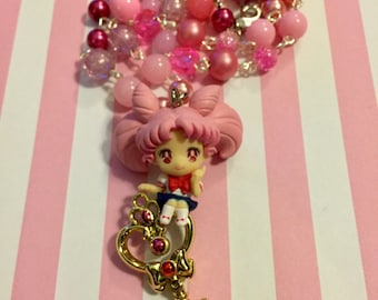 Chibiusa // Time Key // Beaded Necklace