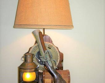 Table lamp nautical etsy vintage coachman nautical themed table lamp aloadofball Image collections