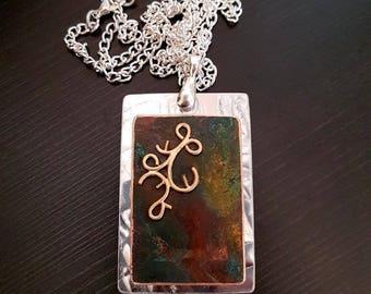 Green Copper Necklace - Verdigris