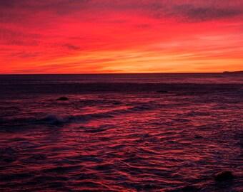 Red Sky at Night in Malibu