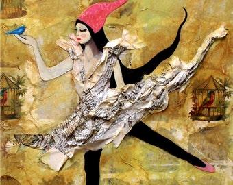 5 Postcard Set - The Bird Girl