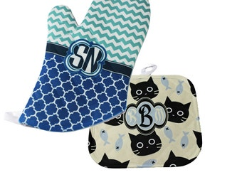 Personalized Oven Mitt and Pot Holder