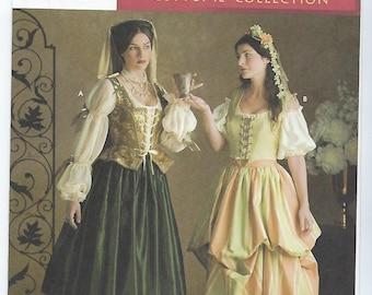 Simplicity 3809 (D) - MISSES Renaissance Costumes / Sizes 4, 6, 8