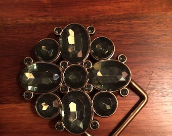 Vintage Belt Buckle with Rhinestones