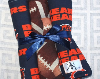Custom Chicago Bears Burp Cloths