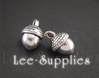 30pcs Antique Silver Acorn Charms Pendant A2024