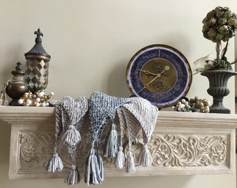 Luxury Tassled Wraps......perfect for the springtime! Hand Knit Coziness!