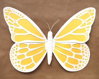 Paper Butterfly, Large DIY Template (svg, dxf, and pdf)