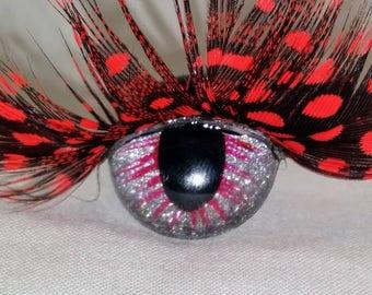 21mm Eyelash Collection, Safety Eyes, Craft Eyes, Doll Eyes, Animal Eyes, Dragon Eyes, Diamond Dust, Feather Eyelash