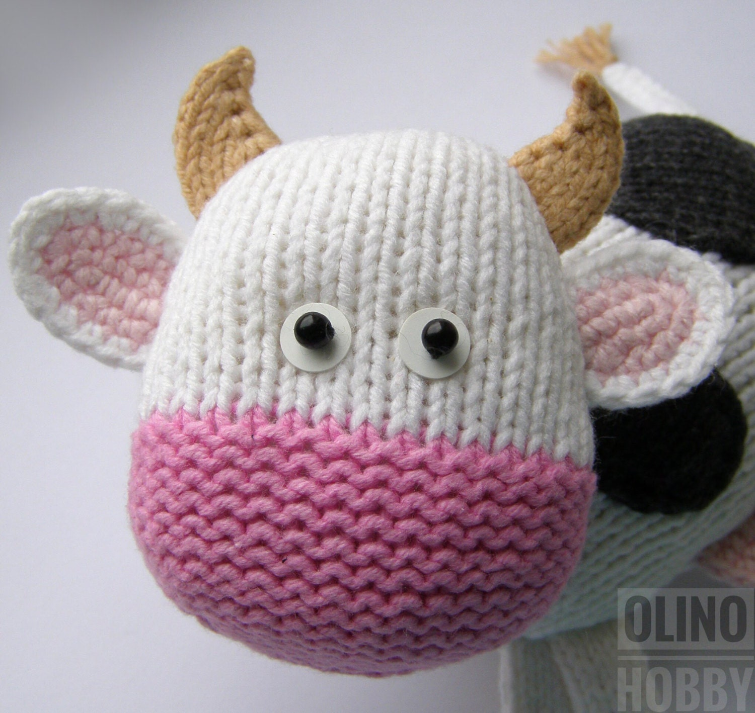 COW Knitting Pattern PDF - Knitted Cow pattern Knitted animal ...