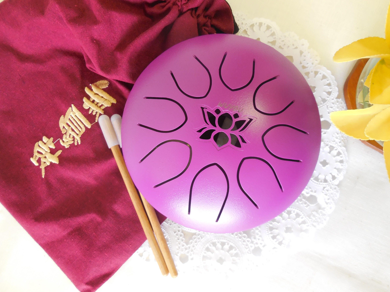 7in chakra drum lotus symbol tank handpan steel tongue drum zoom izmirmasajfo