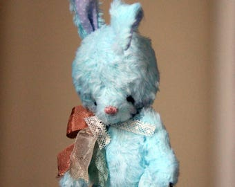 Artist teddy - Artist bunny Tiffany - OOAK teddy - Easter gifts - Easter decorations - Baby shower gifts - Stuffed animals - Handmade bunny