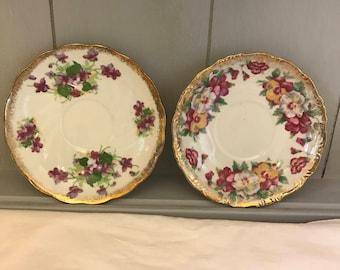 Beautiful Vintage Mismatched Saucers
