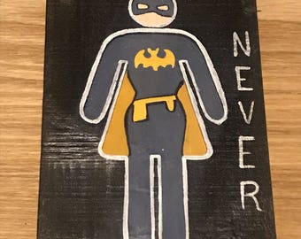It was never a dress-bat girl bathroom sign/pass
