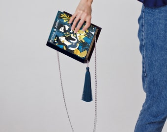 Romeo & Juliet book purse - gift for book lover