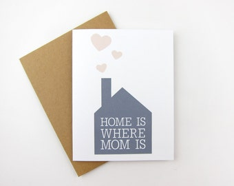 Home is Where Mom is: Mom / Mother's Day Card