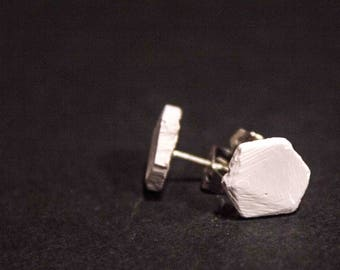 Concrete Hexagon Earrings