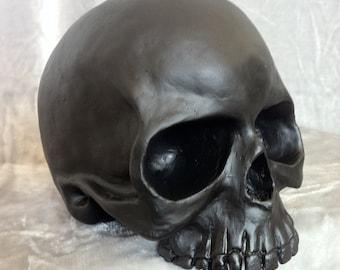 human skull sculpture