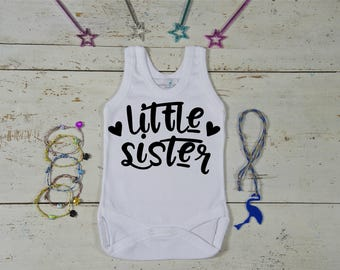 Little Sister Onesie -Baby Girl Clothes-Little Sister Bodysuit-Baby Girl Onesie-Baby Girl Onesie-Newborn Outfit-Baby Shower Gift