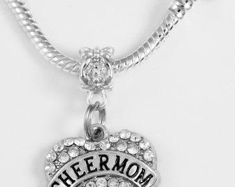 Cheer Mom Necklace European style Necklace cheering mom Cheerleader mom B