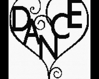 Love Dance, cross stitch pattern, cross stitch love, cross stitch dance, dance pattern, love pattern, cross stitch, Instant Download!