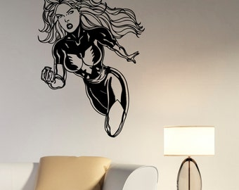 Dark Phoenix Wall Sticker Removable Vinyl Decal X-Men Marvel Comics Art Girl Superhero Decorations for Home Dorm Room Bedroom Decor dpx2