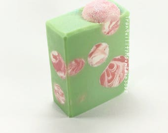 WATERMELON SOAP Gifts For Kids Summer Soap Artisanal Soap Handmade Soap Handcrafted Soap For Women Soap Cold Process Artisan Soap Homemade