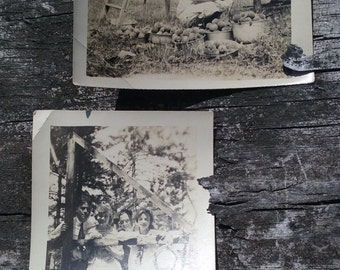 FREE Shipping 1900-1910s Set of 2 Edwardian Teens and Peach Orchard Photograph Portraits