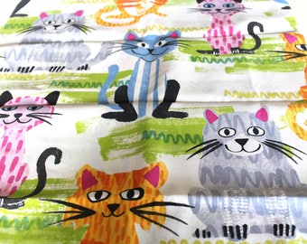 Coupon fabric upholstery 50 x 70 cm cats